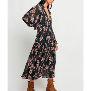 Free People Feeling Groovy Maxi Dress Forest Combo